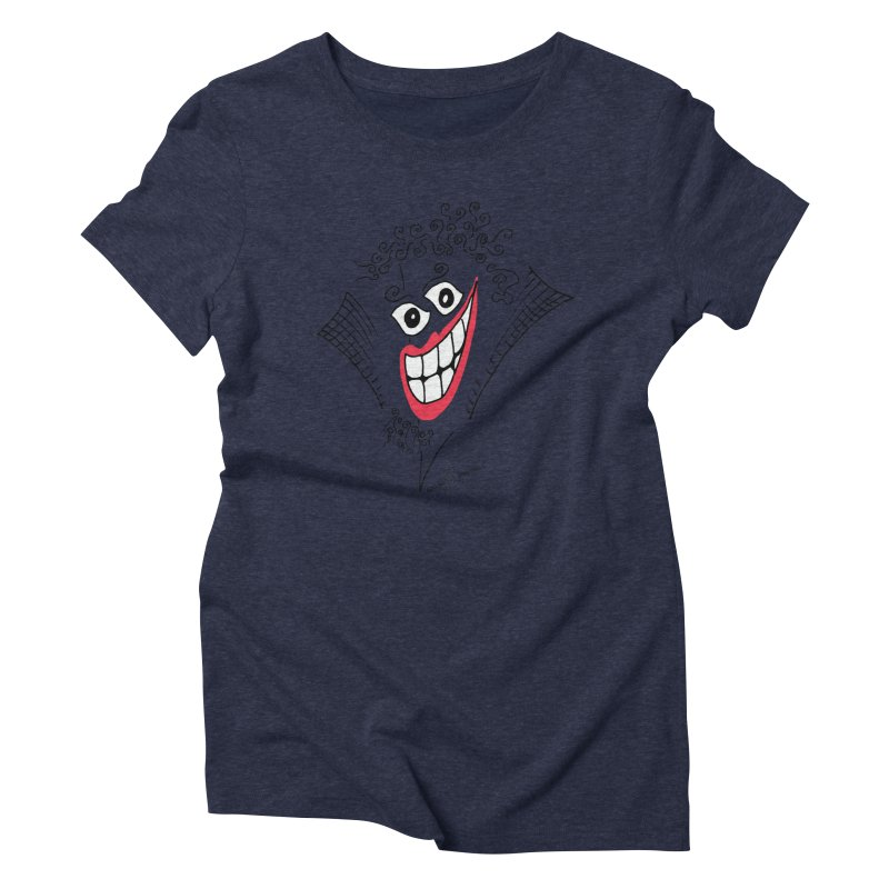 Sly smile Women's Triblend T-Shirt by Good Morning Smile