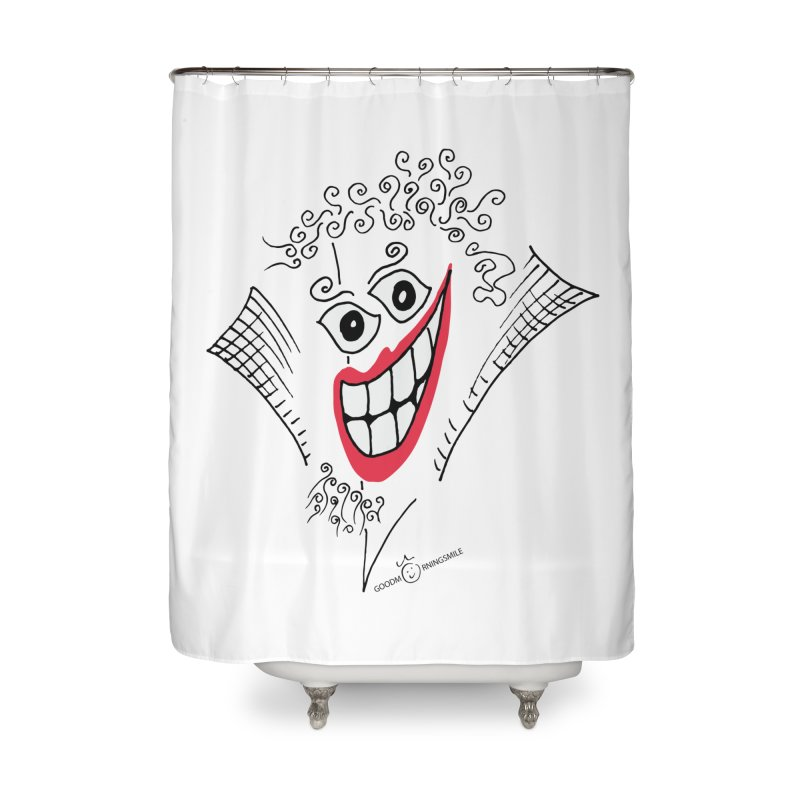 Sly smile Home Shower Curtain by Good Morning Smile