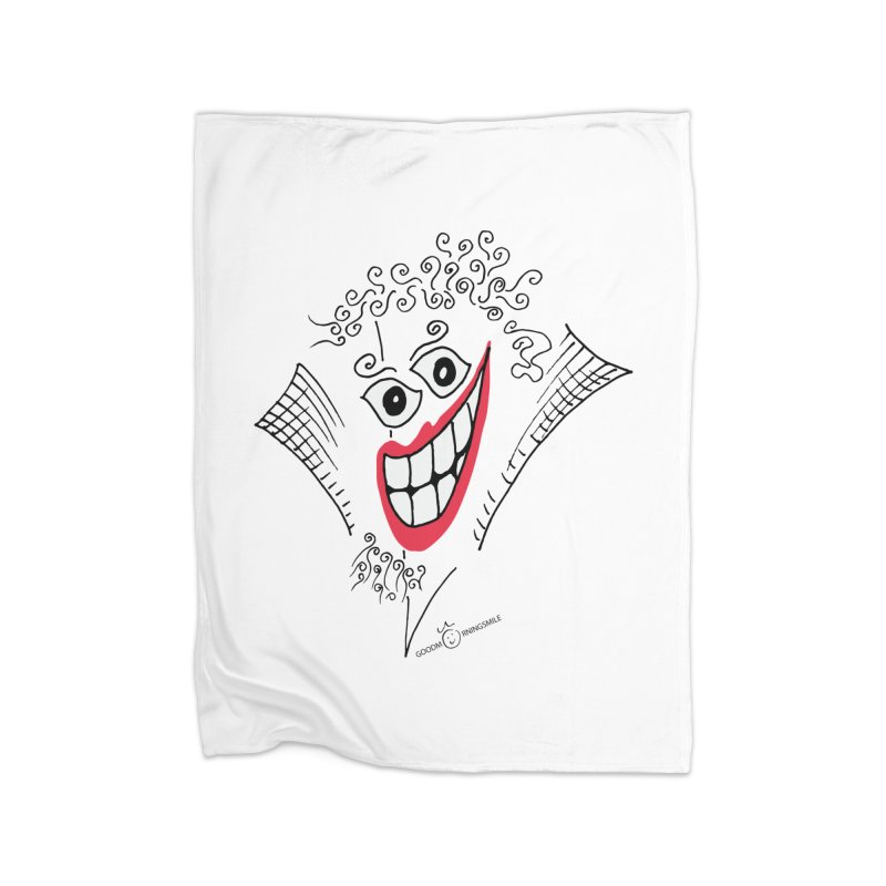 Sly smile Home Fleece Blanket Blanket by Good Morning Smile
