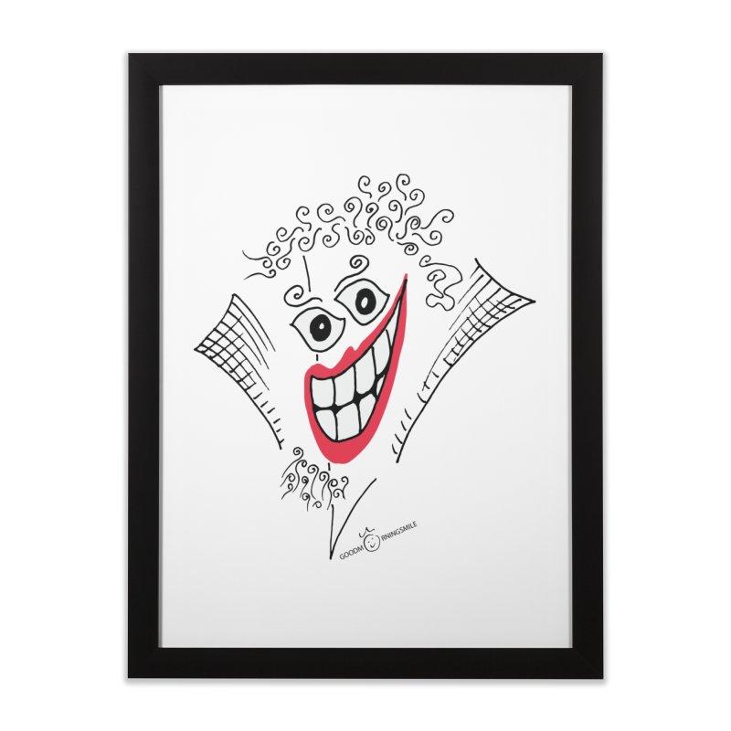 Sly smile Home Framed Fine Art Print by Good Morning Smile