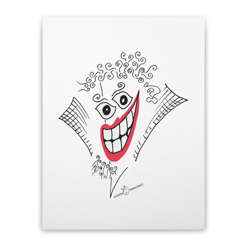 Sly smile Home Stretched Canvas by Good Morning Smile