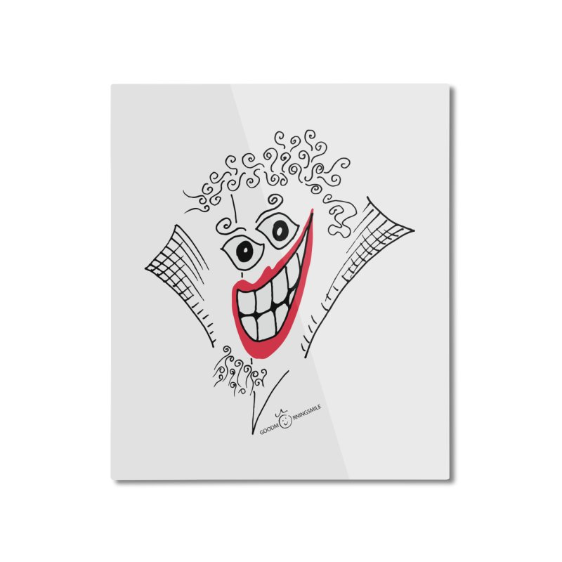 Sly smile Home Mounted Aluminum Print by Good Morning Smile