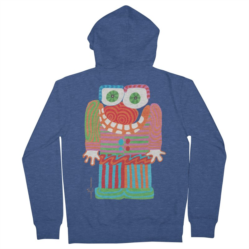 Goofy Smile Men's French Terry Zip-Up Hoody by Good Morning Smile