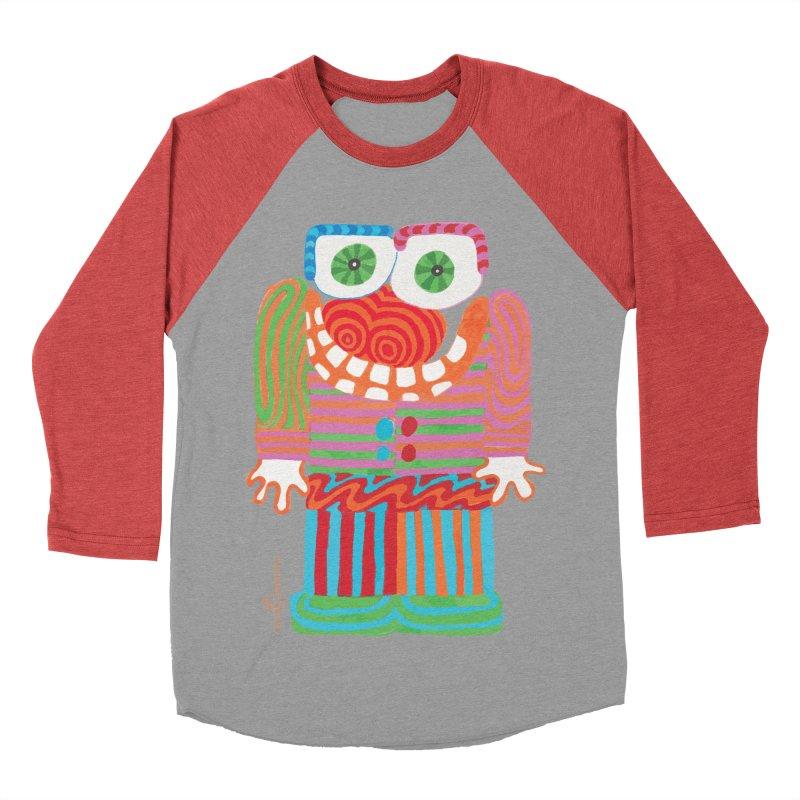 Goofy Smile Men's Baseball Triblend Longsleeve T-Shirt by Good Morning Smile