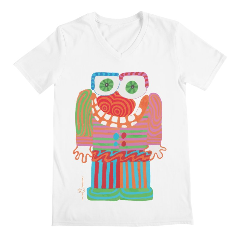 Goofy Smile Men's Regular V-Neck by Good Morning Smile
