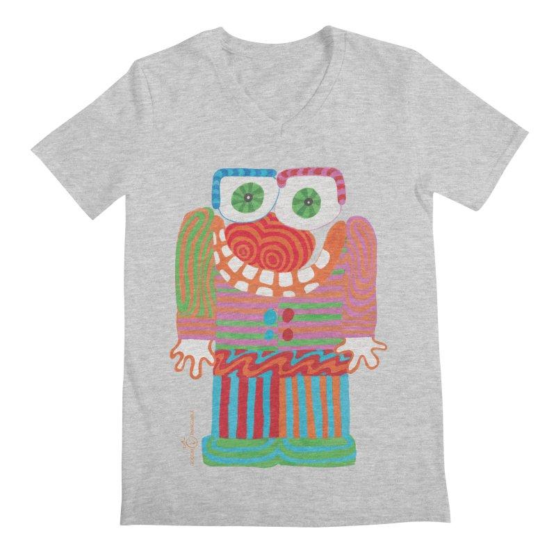Goofy Smile Men's Regular V-Neck by Good Morning Smile