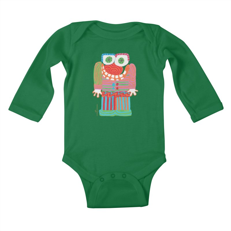 Goofy Smile Kids Baby Longsleeve Bodysuit by Good Morning Smile