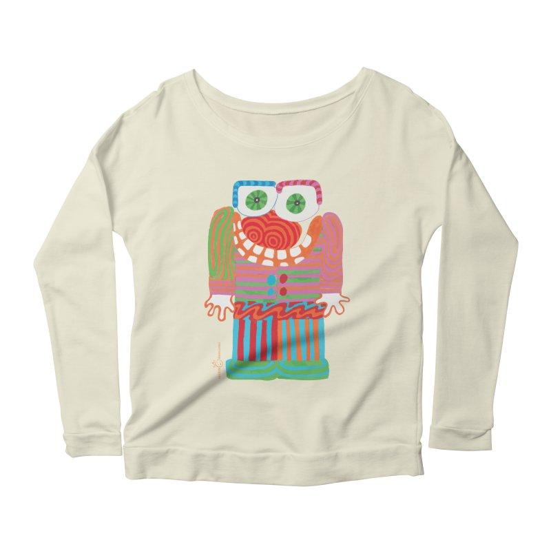 Goofy Smile Women's Scoop Neck Longsleeve T-Shirt by Good Morning Smile