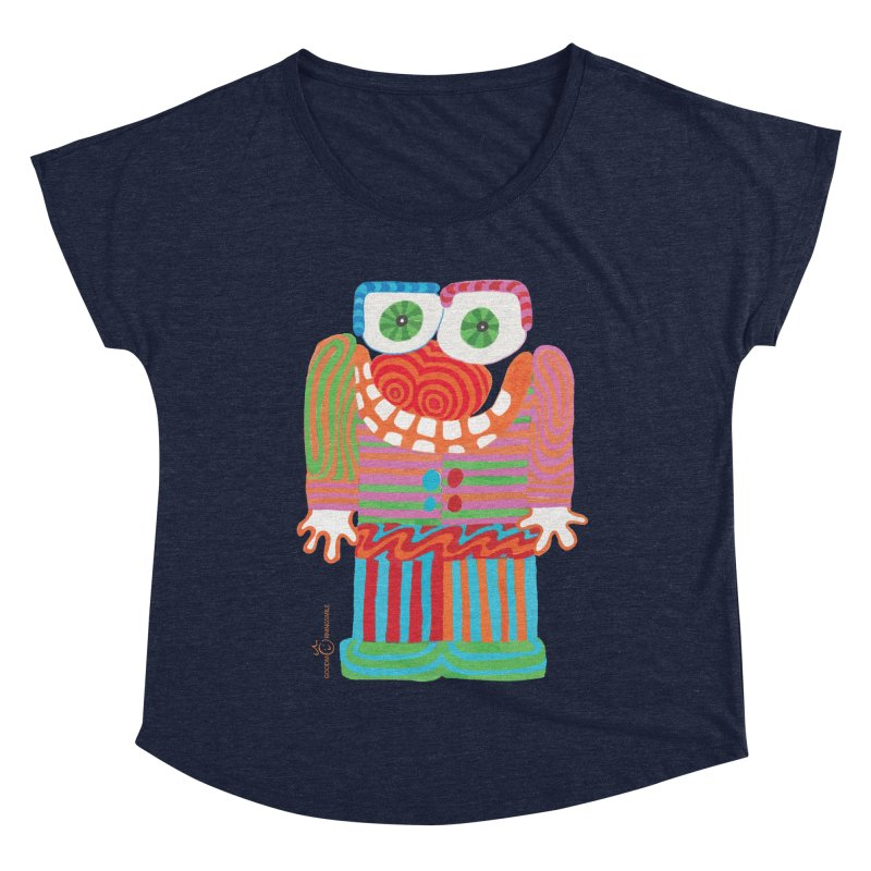 Goofy Smile Women's Dolman Scoop Neck by Good Morning Smile