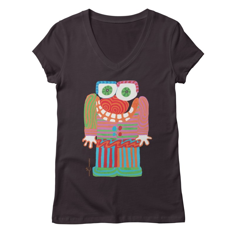 Goofy Smile Women's Regular V-Neck by Good Morning Smile