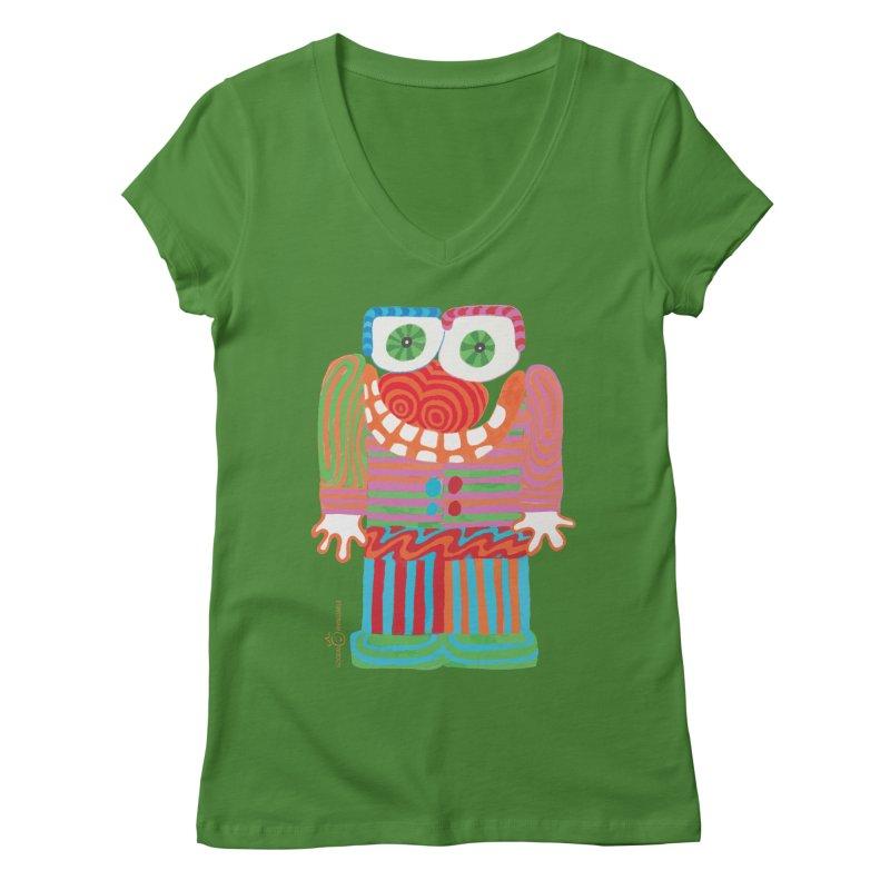 Goofy Smile Women's Regular V-Neck by Good Morning Smile