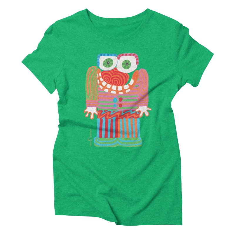 Goofy Smile Women's Triblend T-Shirt by Good Morning Smile