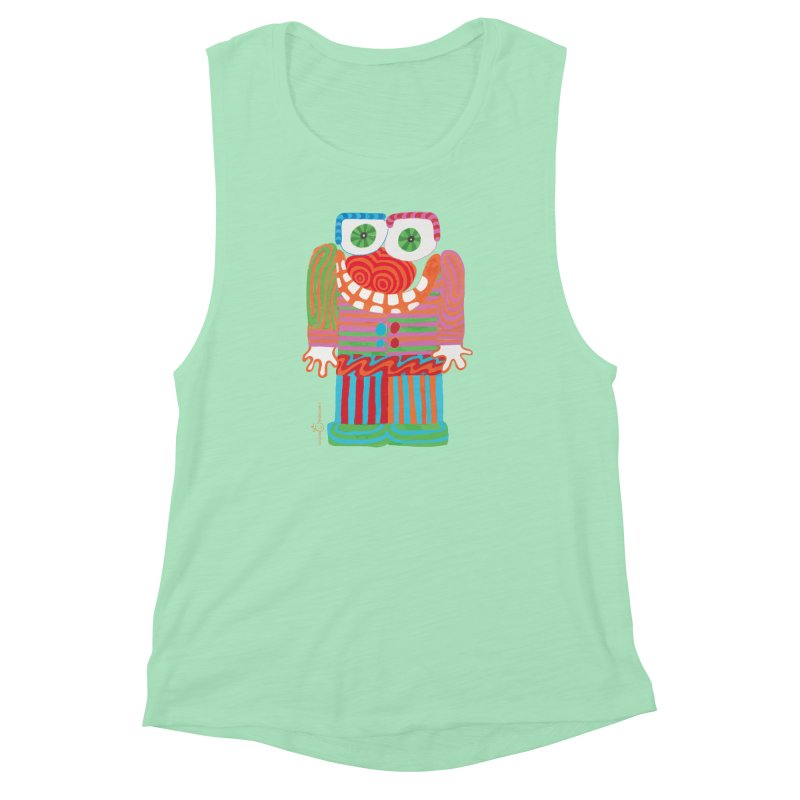 Goofy Smile Women's Muscle Tank by Good Morning Smile