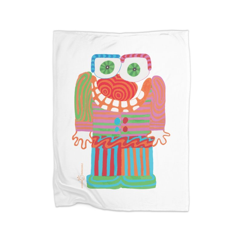 Goofy Smile Home Fleece Blanket Blanket by Good Morning Smile