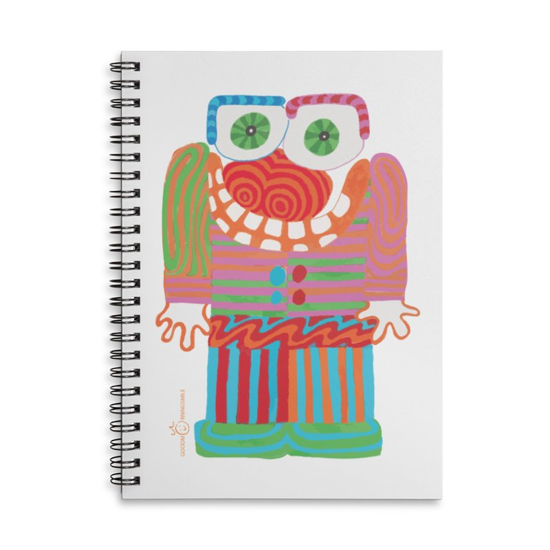 Goofy Smile Accessories Lined Spiral Notebook by Good Morning Smile