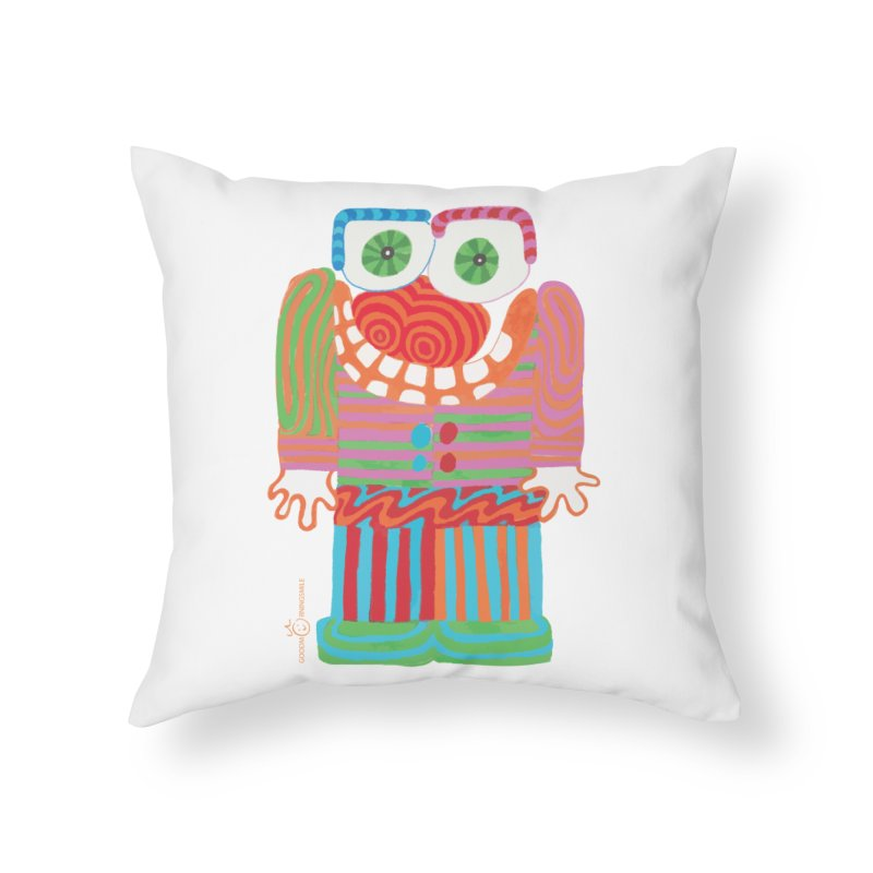 Goofy Smile Home Throw Pillow by Good Morning Smile