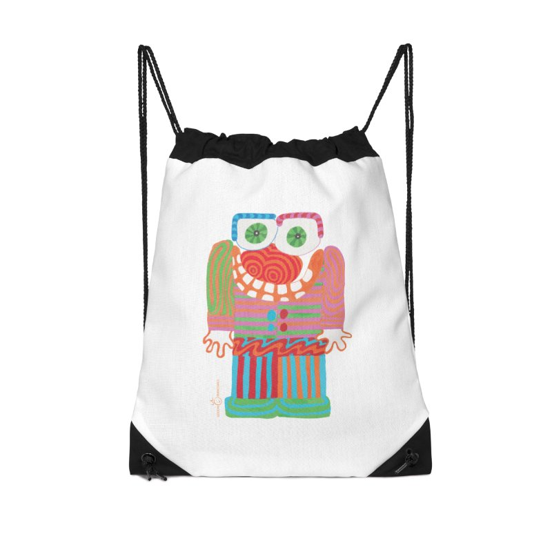 Goofy Smile Accessories Drawstring Bag Bag by Good Morning Smile
