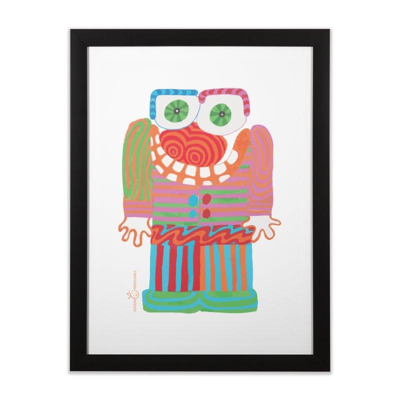 Goofy Smile Home Framed Fine Art Print by Good Morning Smile