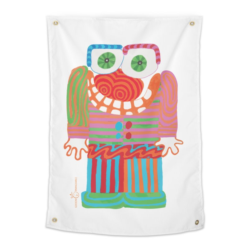 Goofy Smile Home Tapestry by Good Morning Smile