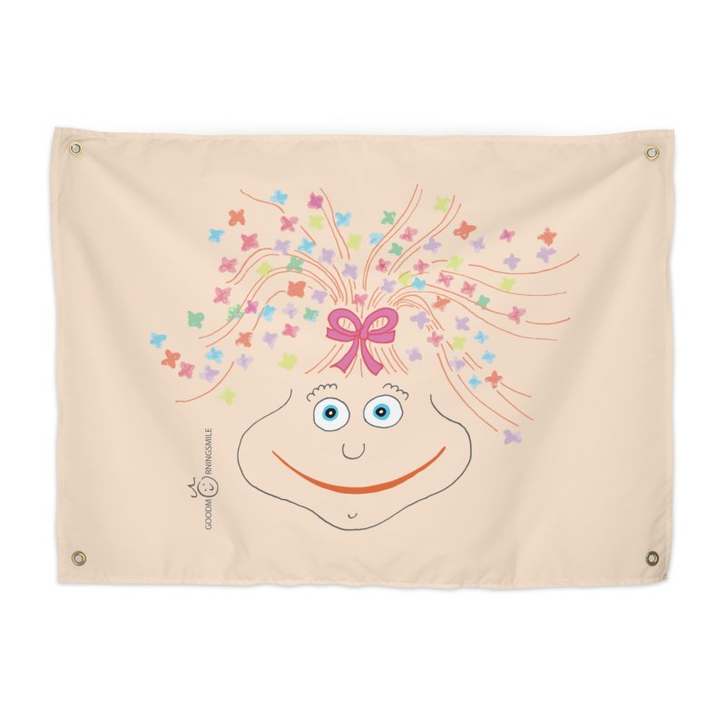 Happy Birthday Smile Home Tapestry by Good Morning Smile