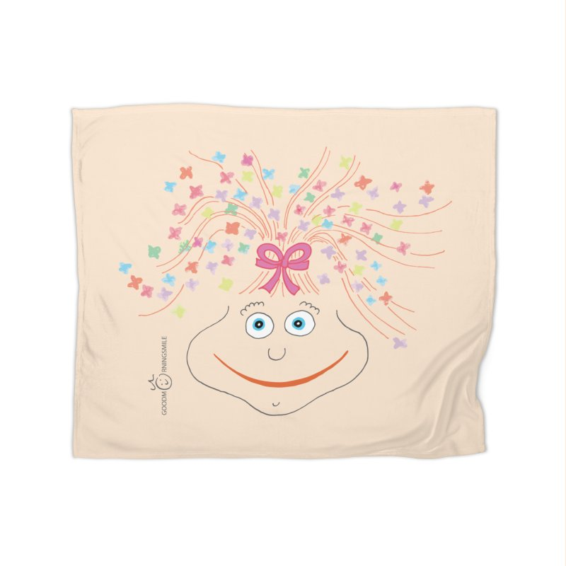 Happy Birthday Smile Home Fleece Blanket Blanket by Good Morning Smile