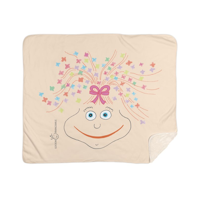 Happy Birthday Smile Home Sherpa Blanket Blanket by Good Morning Smile