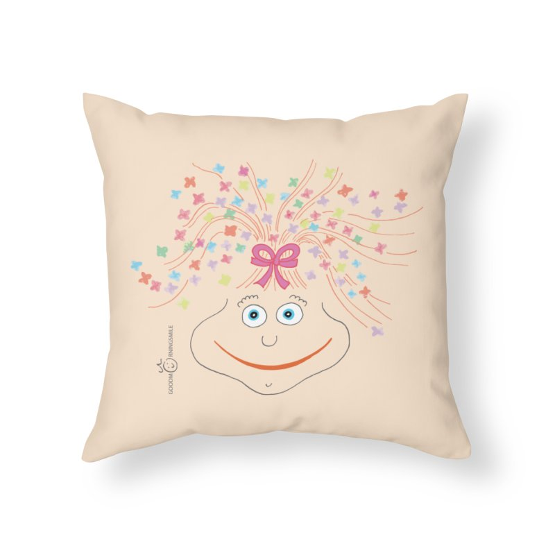 Happy Birthday Smile Home Throw Pillow by Good Morning Smile