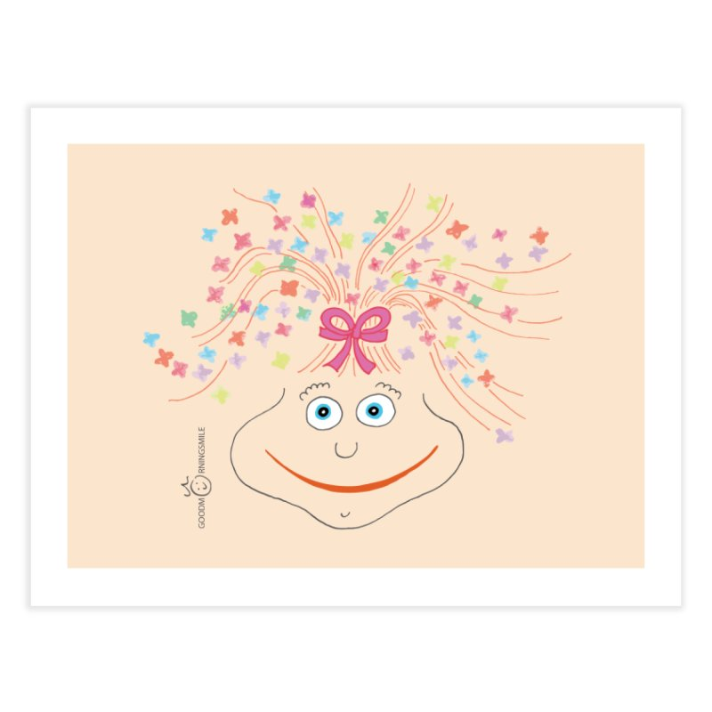 Happy Birthday Smile Home Fine Art Print by Good Morning Smile