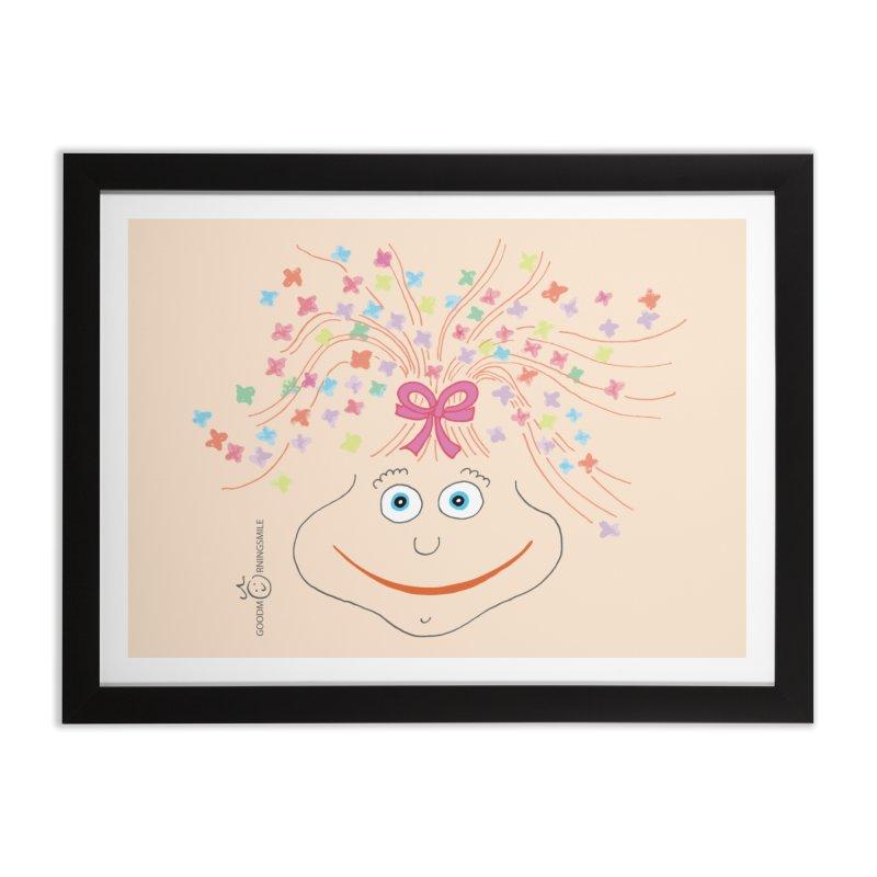 Happy Birthday Smile Home Framed Fine Art Print by Good Morning Smile