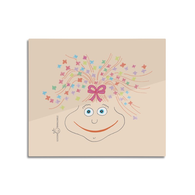 Happy Birthday Smile Home Mounted Aluminum Print by Good Morning Smile