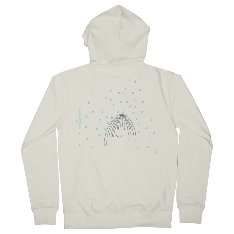 Rainy smile Men's French Terry Zip-Up Hoody by Good Morning Smile