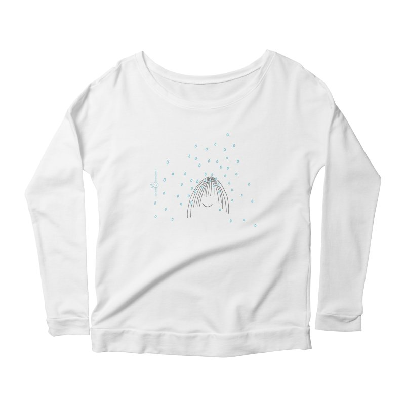 Rainy smile Women's Scoop Neck Longsleeve T-Shirt by Good Morning Smile