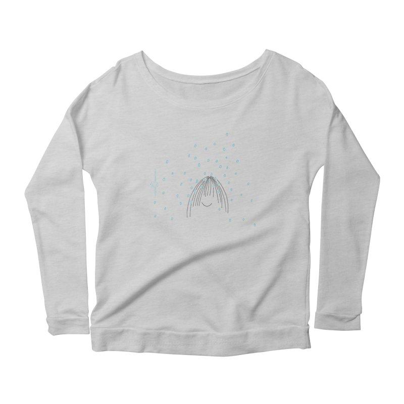 Rainy smile Women's Scoop Neck Longsleeve T-Shirt by Good Morning Smile