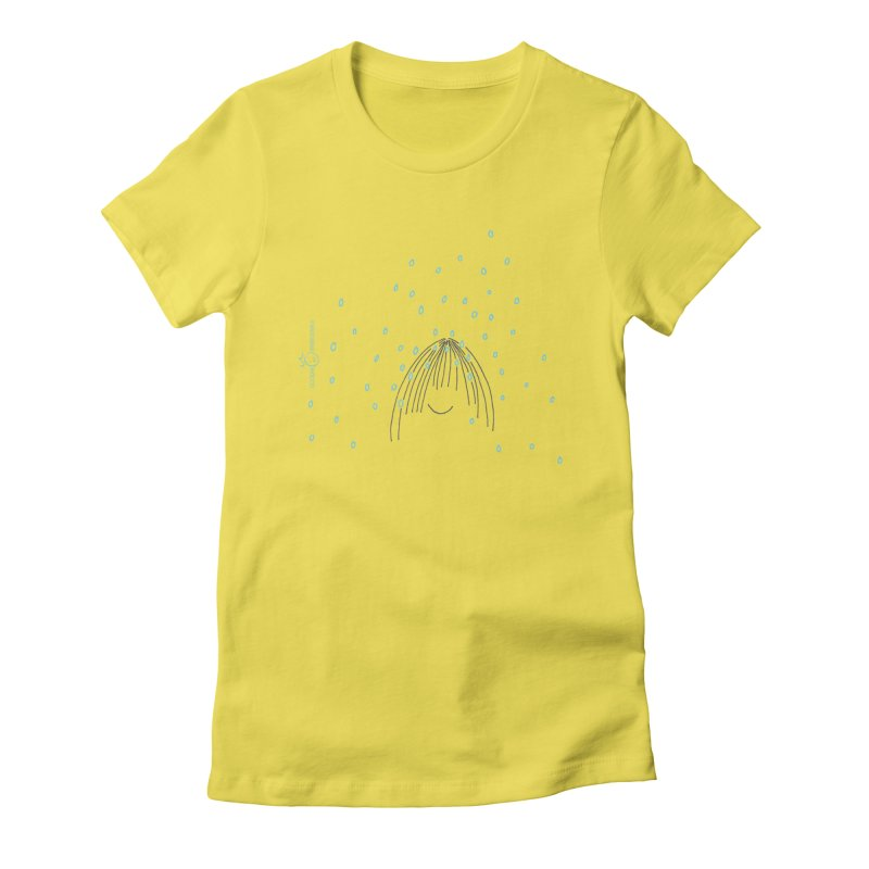 Rainy smile Women's Fitted T-Shirt by Good Morning Smile