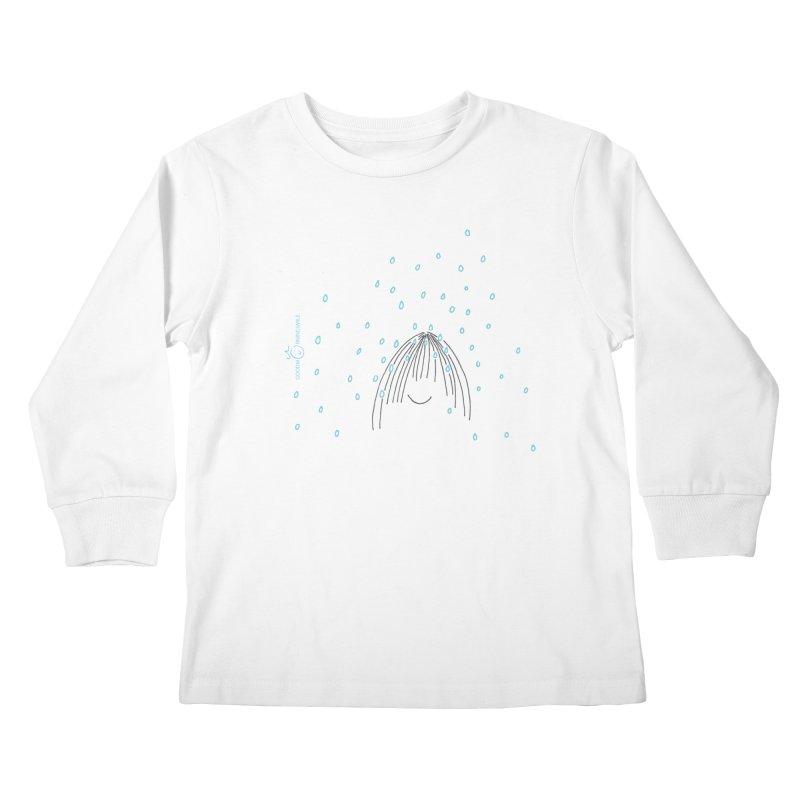 Rainy smile Kids Longsleeve T-Shirt by Good Morning Smile