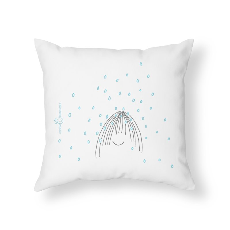 Rainy smile Home Throw Pillow by Good Morning Smile
