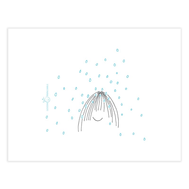 Rainy smile Home Fine Art Print by Good Morning Smile