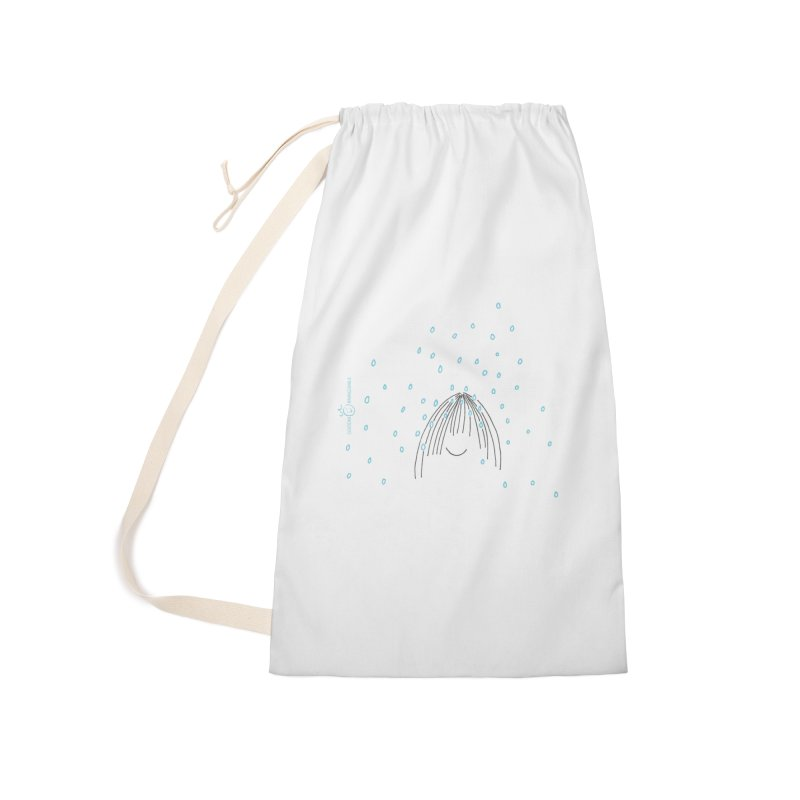 Rainy smile Accessories Laundry Bag Bag by Good Morning Smile