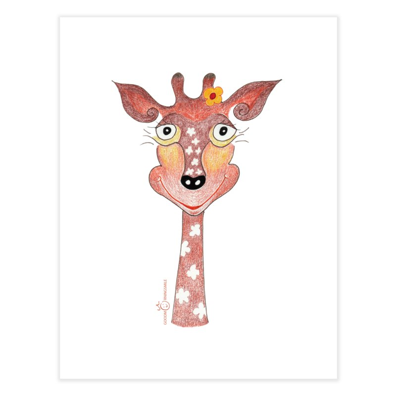 Giraffe Smile Home Fine Art Print by Good Morning Smile