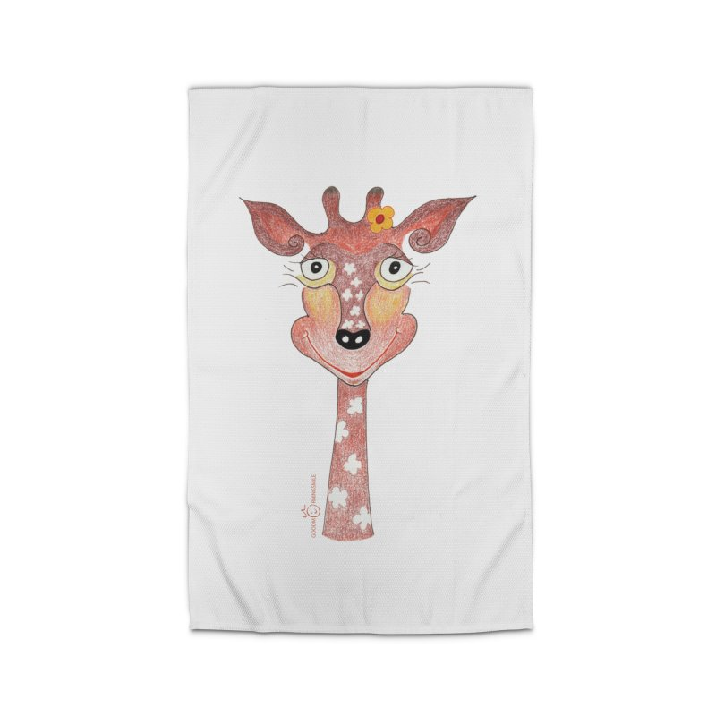 Giraffe Smile Home Rug by Good Morning Smile