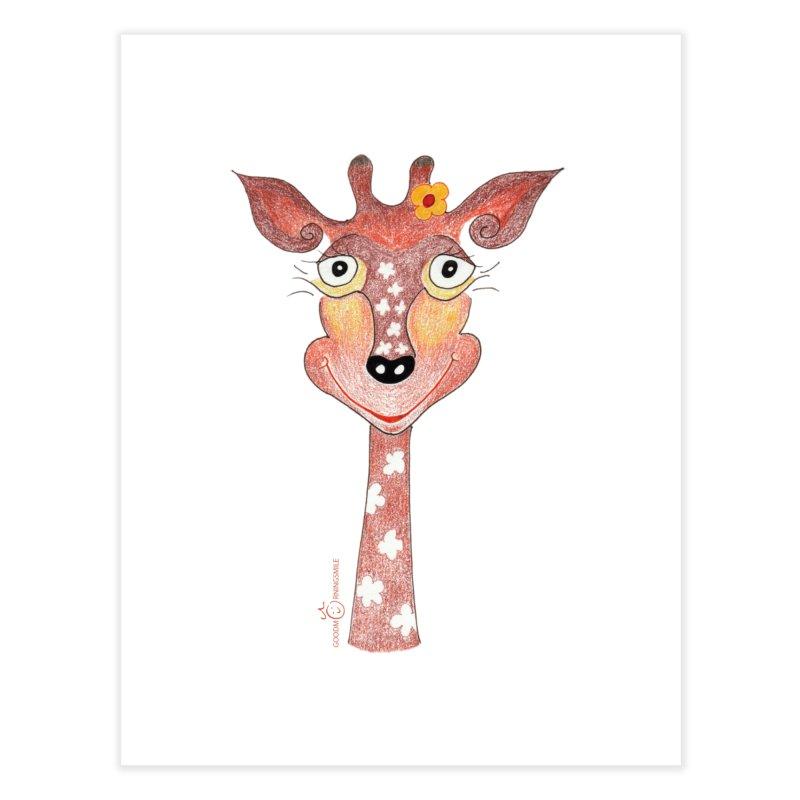 Giraffe Smile Home Fine Art Print by Good Morning Smile