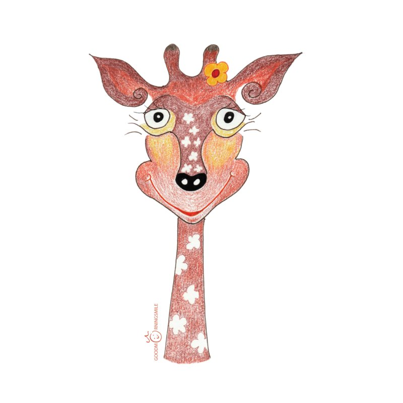 Giraffe Smile Home Shower Curtain by Good Morning Smile