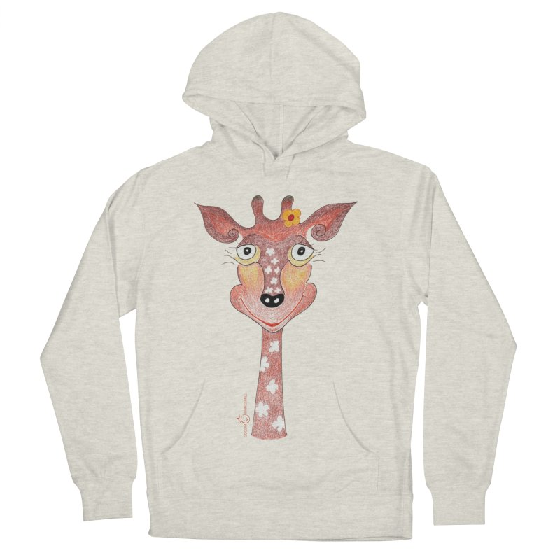 Giraffe Smile Women's French Terry Pullover Hoody by Good Morning Smile
