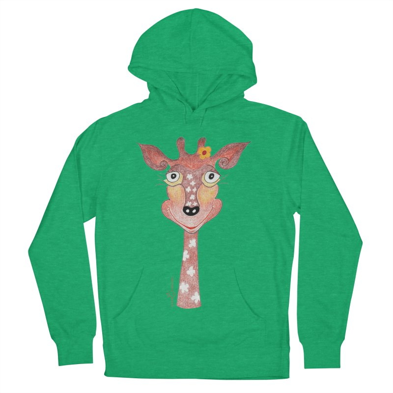 Giraffe Smile Men's French Terry Pullover Hoody by Good Morning Smile