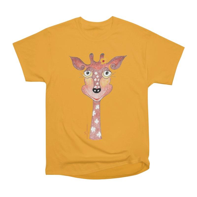 Giraffe Smile Women's Heavyweight Unisex T-Shirt by Good Morning Smile