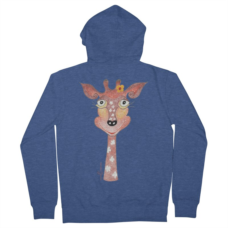 Giraffe Smile Women's French Terry Zip-Up Hoody by Good Morning Smile