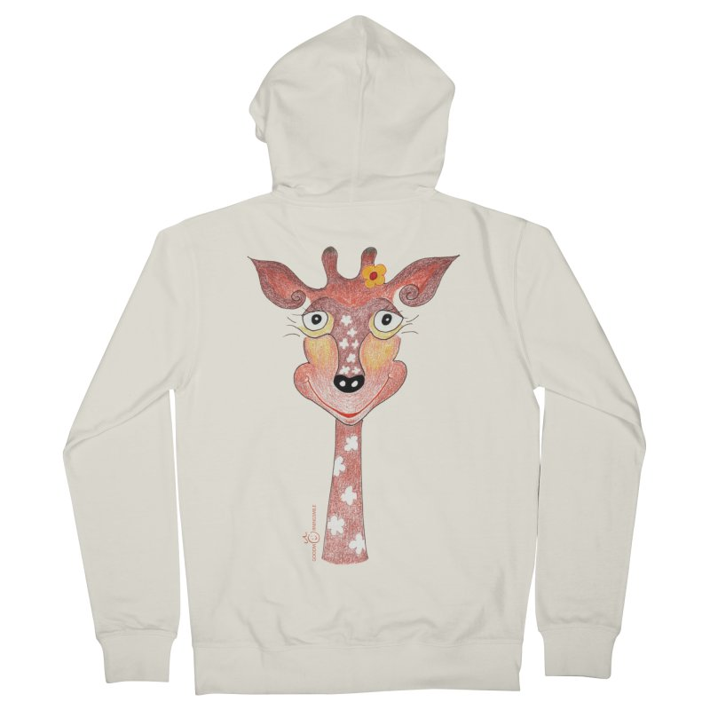 Giraffe Smile Men's French Terry Zip-Up Hoody by Good Morning Smile