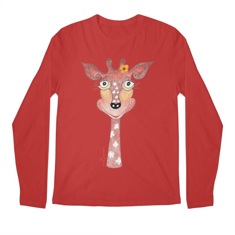 Giraffe Smile Men's Regular Longsleeve T-Shirt by Good Morning Smile