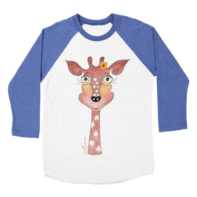 Giraffe Smile Women's Baseball Triblend Longsleeve T-Shirt by Good Morning Smile