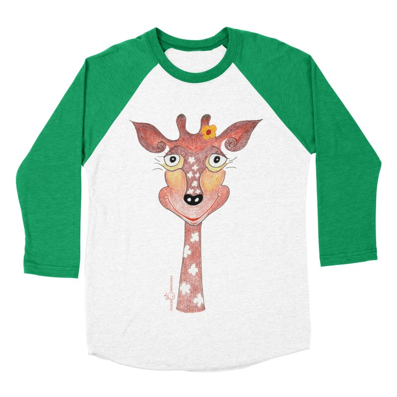 Giraffe Smile Women's Baseball Triblend Longsleeve T-Shirt by Good Morning Smile